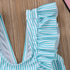 Striped Ruffle Swimsuit