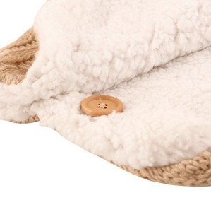 Thick Baby Knit Swaddle Wrap + Pram Handrail Set