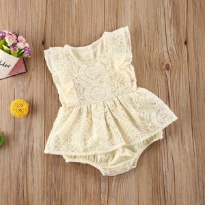 Lace Sleeveless Floral Romper