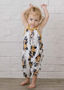 Floral Fall Romper for Baby Girl - Bitsy Bug Boutique