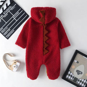 Fleece Dinosaur Jumpsuit