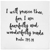 Modern Burlap - Organic Cotton Muslin Swaddle Blanket - Psalm 139:14 - Bitsy Bug Boutique