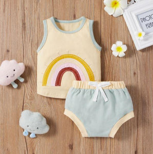 Rainbow Tank Top with Shorts