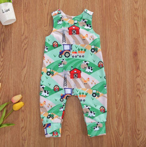 Little Farmer Tractor Romper (2 Patterns)
