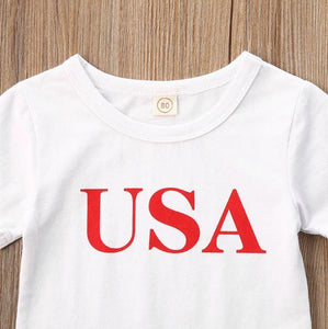 USA T-Shirt Skirt Set