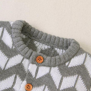 Pattern Sleeved Onesie