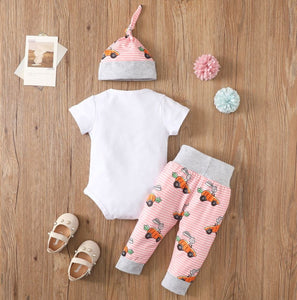Black Floral Outfit with Headband