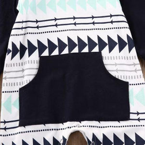 Hooded Aztec Romper