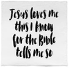 Modern Burlap - Organic Cotton Muslin Swaddle Blanket - Jesus loves me - Bitsy Bug Boutique