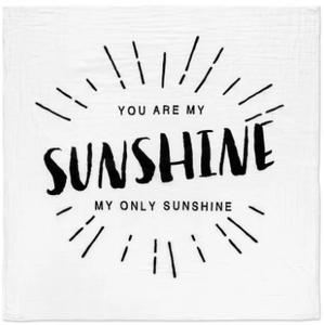 Modern Burlap - Organic Cotton Muslin Swaddle Blanket - You Are My Sunshine - Bitsy Bug Boutique
