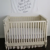 Modern Burlap - Organic Cotton Muslin Swaddle Blanket - Now I lay me prayer - Bitsy Bug Boutique
