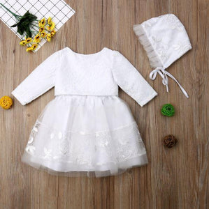 White Formal Lace Dress