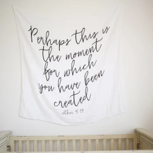 Modern Burlap - Organic Cotton Muslin Swaddle Blanket - Esther 4:14