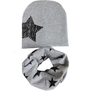 Star Beanie & Scarf Set (Multiple Colors) - Bitsy Bug Boutique