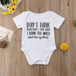 Don't Panic Onesie - Bitsy Bug Boutique