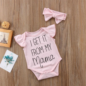 I Get It From My Mama Onesie - Bitsy Bug Boutique