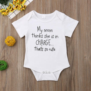 My Mom Thinks She Is In Charge Onesie - Bitsy Bug Boutique