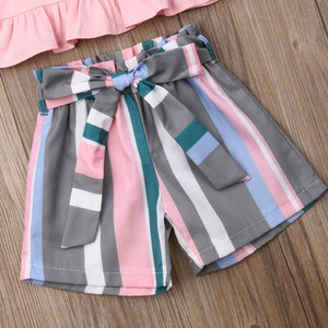 Pink Stripes Outfit - Bitsy Bug Boutique