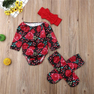Cherry Rose Outfit Red / 18 Mo Set