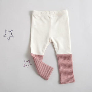 Knitted Patchwork Leggings - Bitsy Bug Boutique
