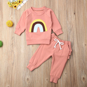 Rainbow Ruffle Outfit - Bitsy Bug Boutique