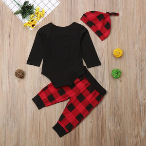 Plaid Little Man Antler Outfit - Bitsy Bug Boutique