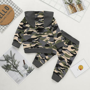 Daddy's Boy Camouflage Sweatsuit Outfit