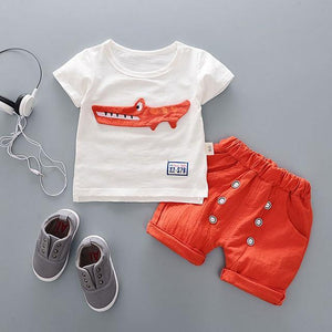Crocodile Summer Outfit - Bitsy Bug Boutique