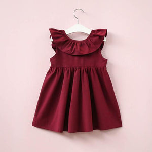 Girls Ruffle Dress Red / 24 Mo