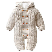 Knitted Hoodie Jumpsuit (Multiple Colors) - Bitsy Bug Boutique