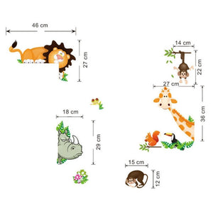 Jungle Animals Wall Stickers Nursery Decor