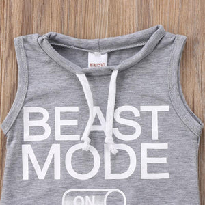 Gray Beast Mode Romper