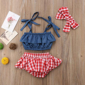 Plaid Rori Outfit - Bitsy Bug Boutique