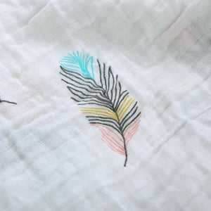 Feather Soft | Muslin Swaddle Baby Blanket - Bitsy Bug Boutique