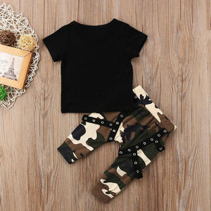 King T-Shirt Camouflage Pants Outfit - Bitsy Bug Boutique
