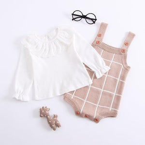 Checked Romper - Bitsy Bug Boutique