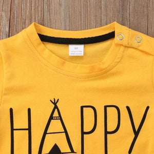 Happy Camper T-Shirt Animal Pants Outfit Set