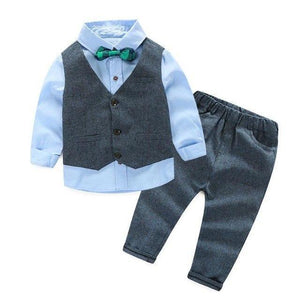 Gentleman Bow Tie Outfit Blue / 3 Toddler