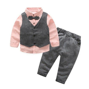 Gentleman Bow Tie Outfit Pink / 6 Toddler