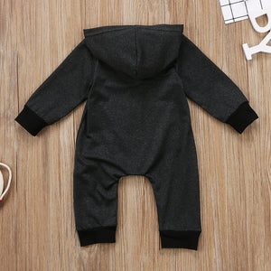 Zip Up Hooded Romper - Bitsy Bug Boutique