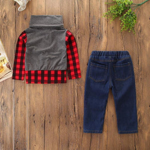 Pine Plaid Outfit - Bitsy Bug Boutique
