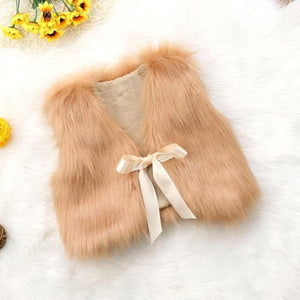 Felice Fur Vest - Bitsy Bug Boutique