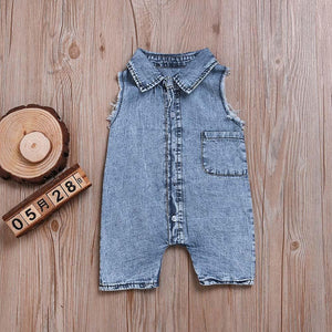 Blue Jean Romper - Bitsy Bug Boutique