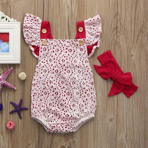 Lace Romper & Headband - Bitsy Bug Boutique