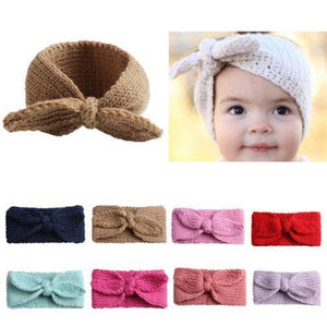 Knitted Bow Headband - Bitsy Bug Boutique