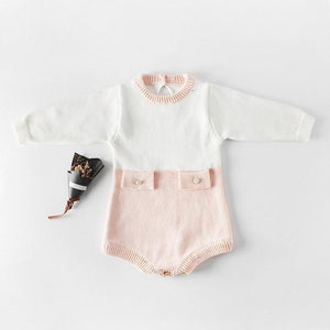 Knitted Romper Outfit - Bitsy Bug Boutique