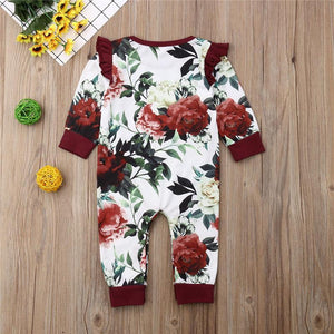 White Rose Onesie - Bitsy Bug Boutique
