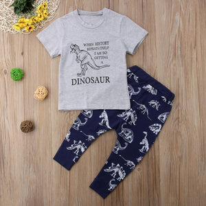 History Repeats Dinosaur T-shirt Pants Outfit - Bitsy Bug Boutique
