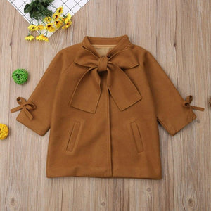 Bow Knot Coat 3 Toddler / Brown Outerwear