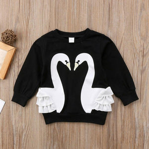 Swan Sweater - Bitsy Bug Boutique